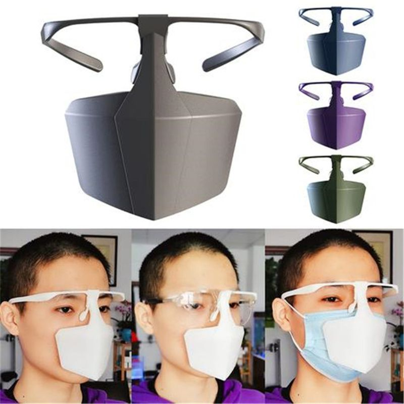 Ha1fcaca790844218b4e8ae97e160bcf0r Face Mask Breathable Reusable Protective Cover Isolation Shield Plastic Protective Mask Against Droplets Anti-fog Isolation