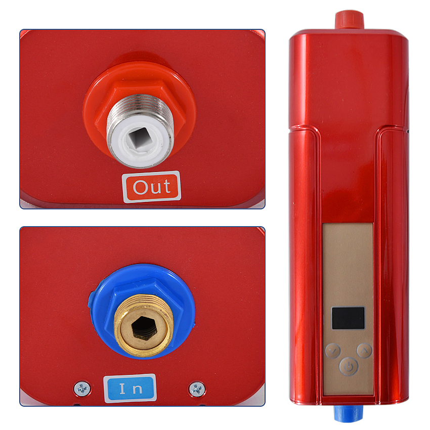 2100 5500 W Instant Water Heater Faucet Electric Water Heater ABS, toughened glass Material DSF42 C03 electric water heater - 5