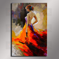 Wholesale oil painting Nude Sexy Female Lady Woman Modern Wall Decor Art Oil Painting On Canvas GT 001