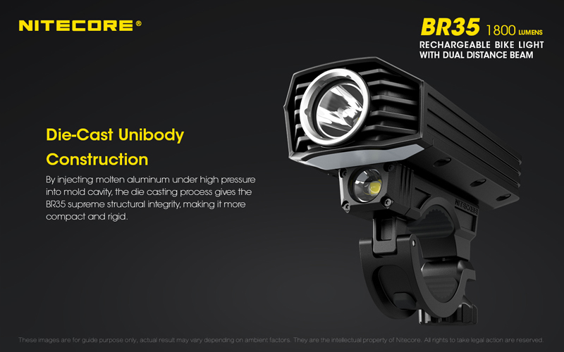 Nitecore BR35 1800 Lumens Rechargeable Bike Bicycle Front Light (15)