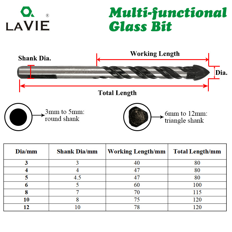 LA-VIE-Multifunctional-Glass-Bit-Twist-Spade-Drill-Triangle-Bits-For-Ceramic-Tile-Concrete-Glass-Marble(2)