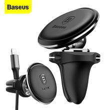 Baseus Cable Organizer Magnetic Car Phone Holder For iPhone 11 Pro Xs Max X Car Magnet Air Vent Mount Mobile Phone Holder Stand