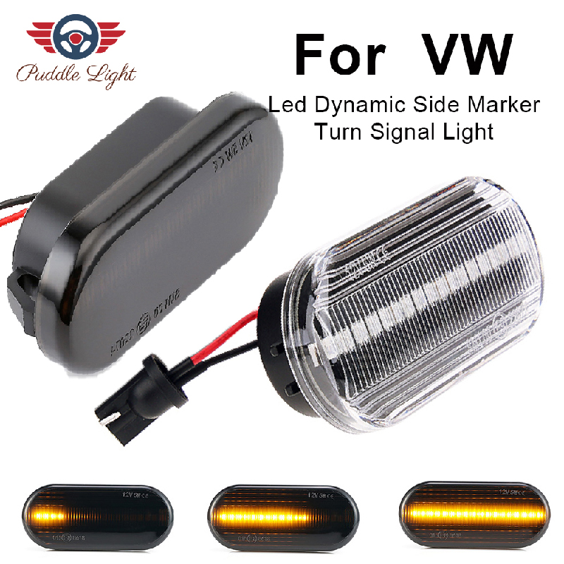 Led Dynamic Side Marker Turn Signal Light For VW Golf 3 4 Fox T5 Caddy Passat Polo Bora Beetle Lupo Sharan Vento Indicator Lamp