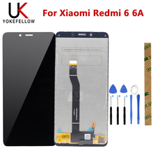 цена на 100% Tested Touch Screen Sensor Panel For Xiaomi Redmi 6 6A LCD Display Screen Assembly