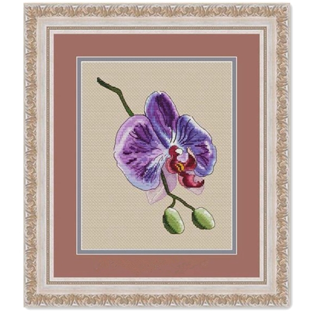 Purple Orchid Counted Cross Stitch kit