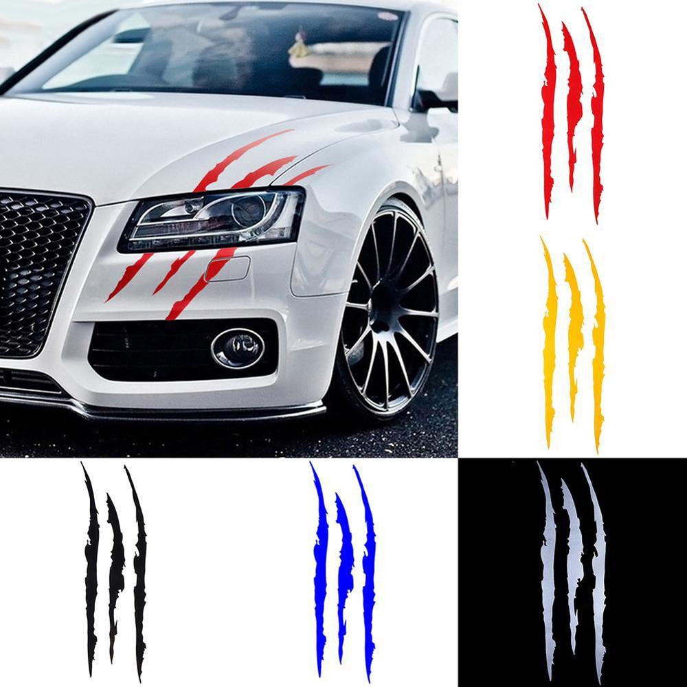 Auto Car Sticker Reflective Monster Claw Scratch Stripe Marks Headlight Decal Car Stickers 1