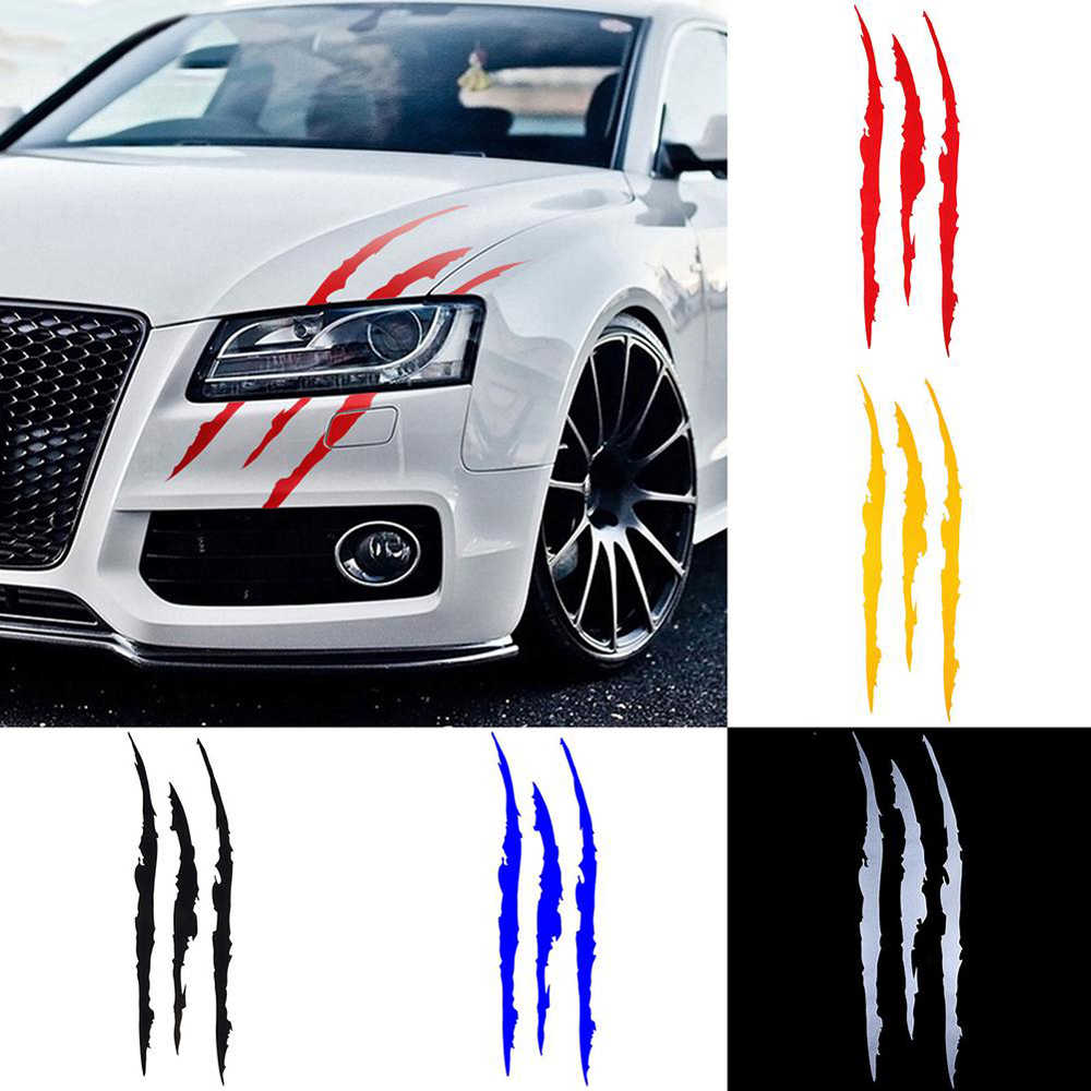 Auto Sticker Reflecterende Monster Klauw Kras Streep Marks Koplamp Decal Auto Stickers