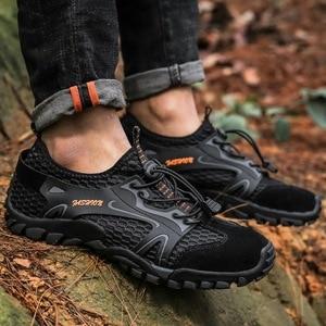 Image 3 - Men Mesh Aqua Shoes Outdoor Professional Non slip Durable Trekking Upstream Shoes Man Cool Hiking Wading Water Sports Sneakers