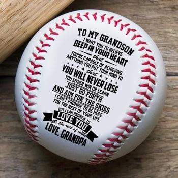 Grandpa To Grandson, Laugh Love Live Baseball Ball printio live laugh love