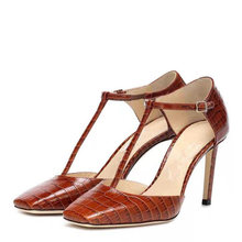 Женские босоножки с квадратным носком сандалии на высоком каблуке