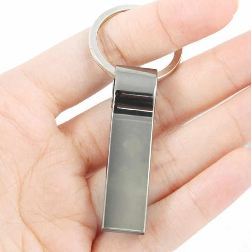 ไดรฟ์ปากกา 8GB 16GB 32GB แฟลชไดรฟ์ USB กันน้ำ USB Stick 64GB 128GB Pendrive USB 2.0 Key Ring USB Flash ความเร็วสูง