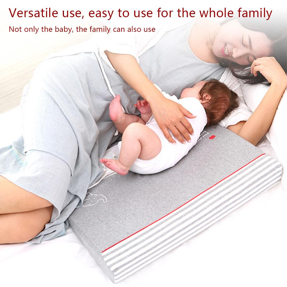 Waterproof Baby Wedge Pillow with 10 Degrees Tilt to Prevent Infants from Spitting and Drooling 1