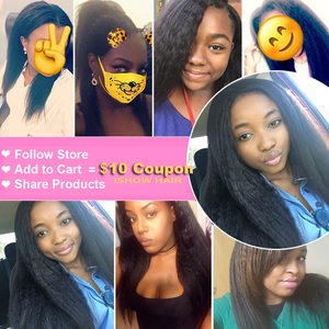 Image 5 - Ishow Kinky Straight Bundles with Closure Yaki Straight Human Hair Bundles with Closure Brazilian Hair Weave Bundles Non Remy
