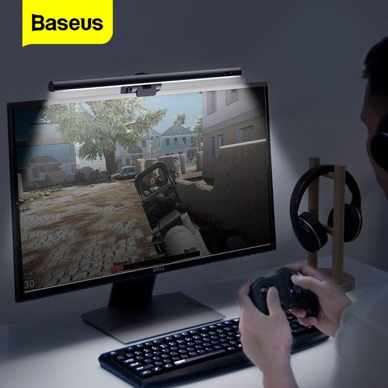 Светодиодный настольный светильник Baseus с регулируемой яркостью для офиса, компьютера, экрана, бара, заботы о глазах, настольная лампа для учебы, чтения, монитора, подвесной светильник, бар|Настольные лампы|   | АлиЭкспресс - Товары для домашнего офиса