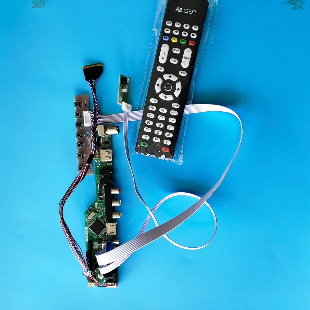 kit for <font><b>B156XW02</b></font> <font><b>V3</b></font> 40pin LVDS LCD LED remote VGA 1366X768 15.6