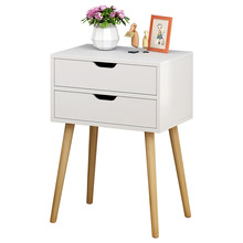 Bedside Table Cabinet Bedroom Wood Nordic Economy Small Mini Simple