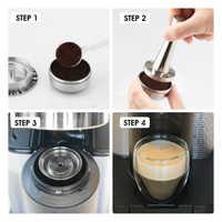 Cápsula reutilizable rellenable de filtros de café para Nespresso Vertuo Vertuoline Plus Delonghi ENV135, cafetera de acero inoxidable