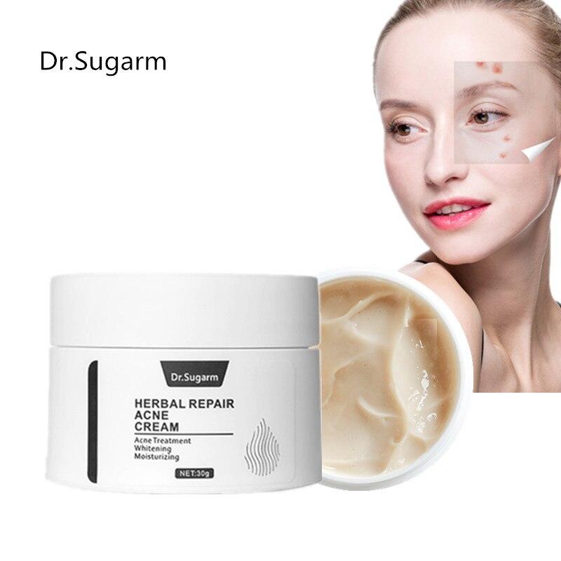 Dr.Sugarm Natural Herba Acne Treatment Face Cream Anti Acne Scar  Whiten Moisturizing Oil-control Shrink Pores Skin Care
