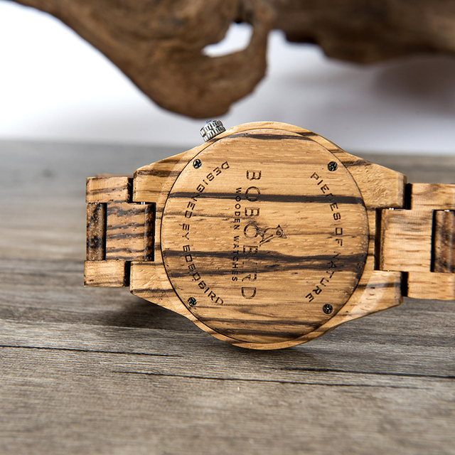 BOBO BIRD Wood Watch Men Quartz Wristwatch Handmade Helm Awe For Magical Staves Compass Rune Wristwatch Male relogio masculino