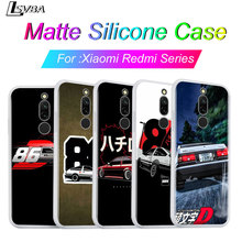 Silicone Cover For Redmi 8A 8 7A 7 Shell INITIAL D AE86 For Xiaomi Redmi 4X 5A 6 6A S2 K20 GO Pro Phone Case dynacord d 8a