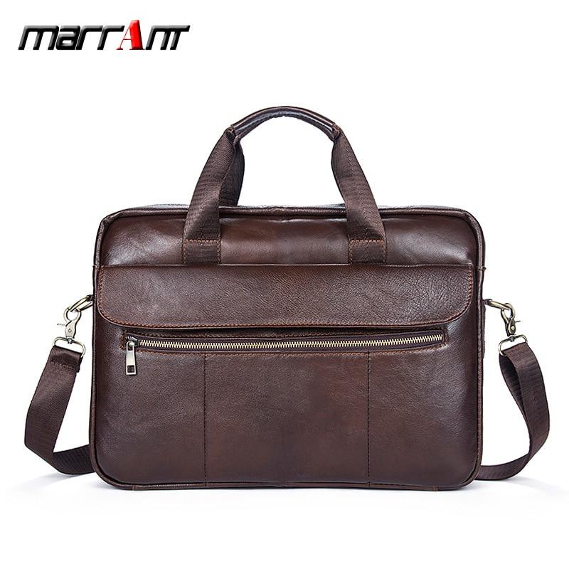 Authentic leather mens bag business briefcase, solid, retro, single-shoulder, one-shoulder, one-shoulde