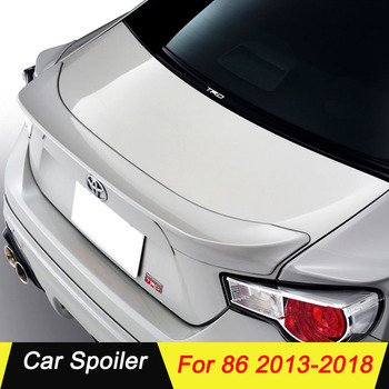 For Toyota 86 2013 2014 2015 2016 2017 2018 Car Rear Trunk Spoiler ABS Material Primer Color Car Tail Wing Decoration For 86