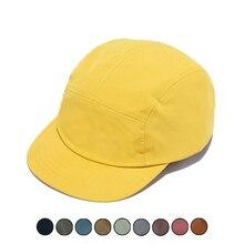 5 Panels Cap Short Brim Hat for Women Flat Bill Cotton Blank Camping Hats Solid Colors Low Crown Classic Adjust Men Baseball Cap