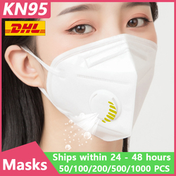 [1000 Uds] KN95 máscaras faciales desechables N95 filtro protector respirador bucal máscara de polvo Ffp3 plantilla Facial de gripe Ffp2 cubierta bucal