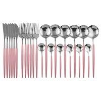 24Pcs Pink Silver