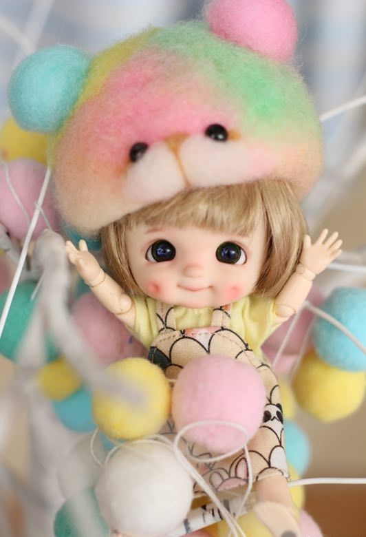 OB11 poupée, 3.0 fossettes poupée personnalisation 8/1 BJD poupées Mini poupée, fossettes