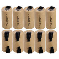 10 pcs subc battery SC battery rechargeable battery replacement 1.2 v with tab 2200 mah for makita for dewalt for bosch for B&D