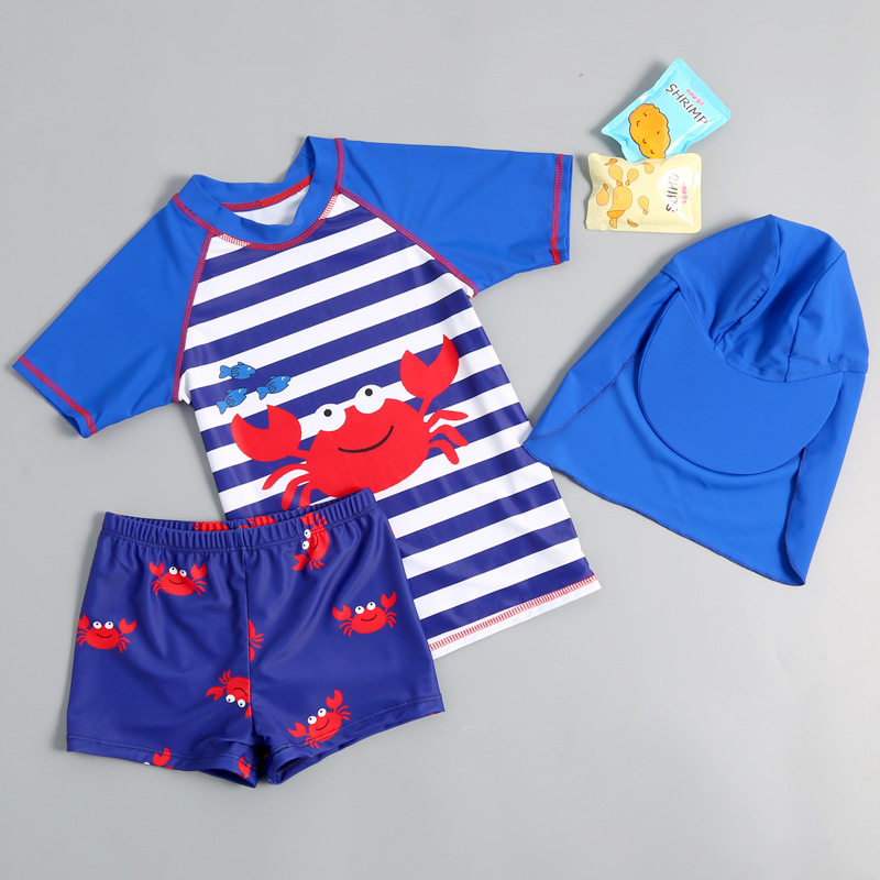 KID'S Swimwear BOY'S Cute Split Type Quick-Dry Warm Baby Infant Boy Hot Springs Tour Bathing Suit Beach Shorts