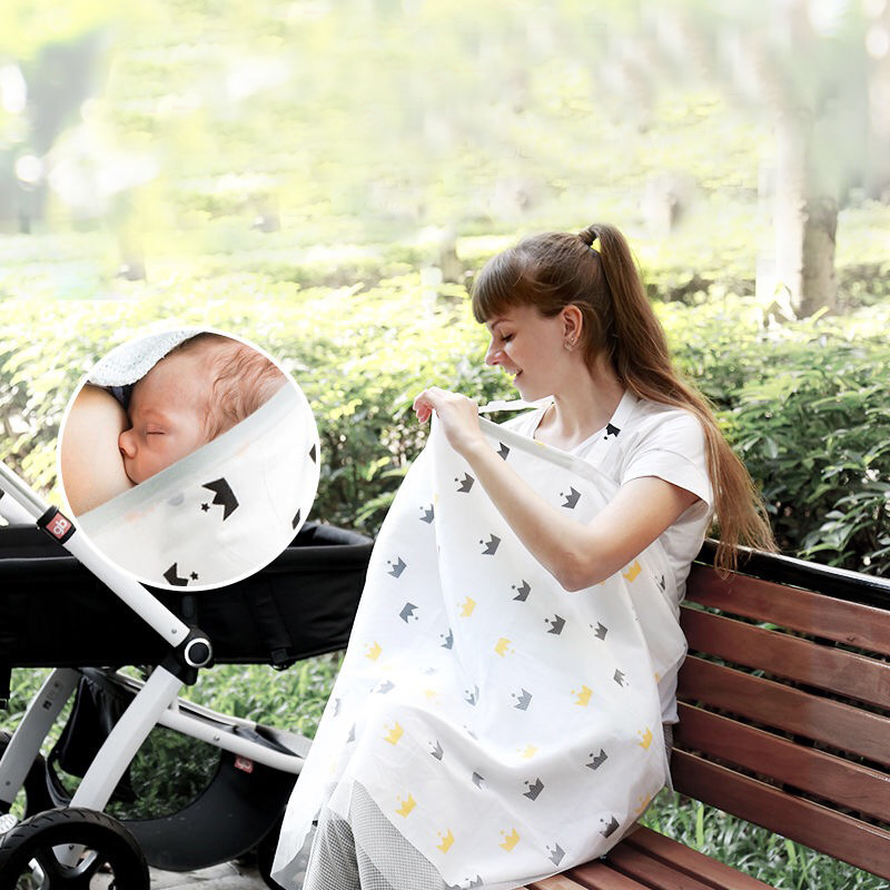 Maternity Nursing Cover Up Apron Breastfeeding Scarf Soft Baby Car Seat Canopy Stroller Cover Mosquito Net Pregnancy Clothing