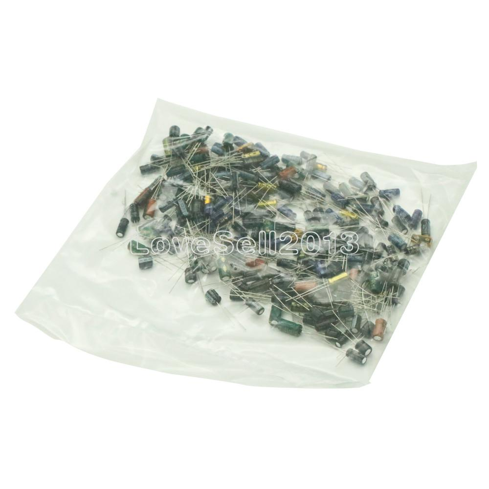 210PCS/Lot <font><b>25</b></font> Value 0.1μF -<font><b>220</b></font>μF Electrolytic Aluminum Capacitors Assortment Kit Set image