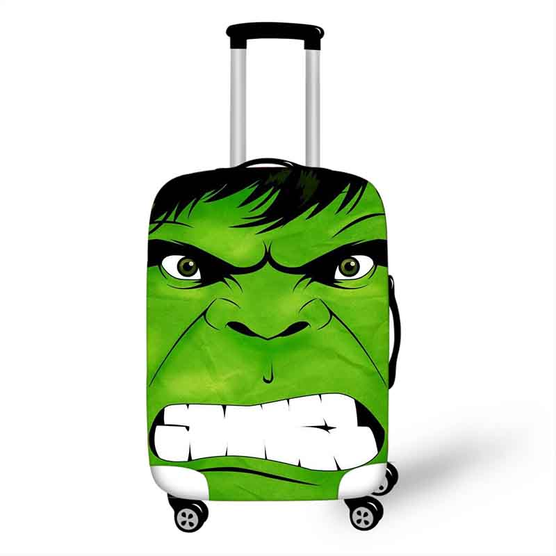 18''-32'' Superhero Hulk Thor Elastic Luggage Protective Cover Trolley Suitcase Dust Bag Case Cartoon Travel Accessories