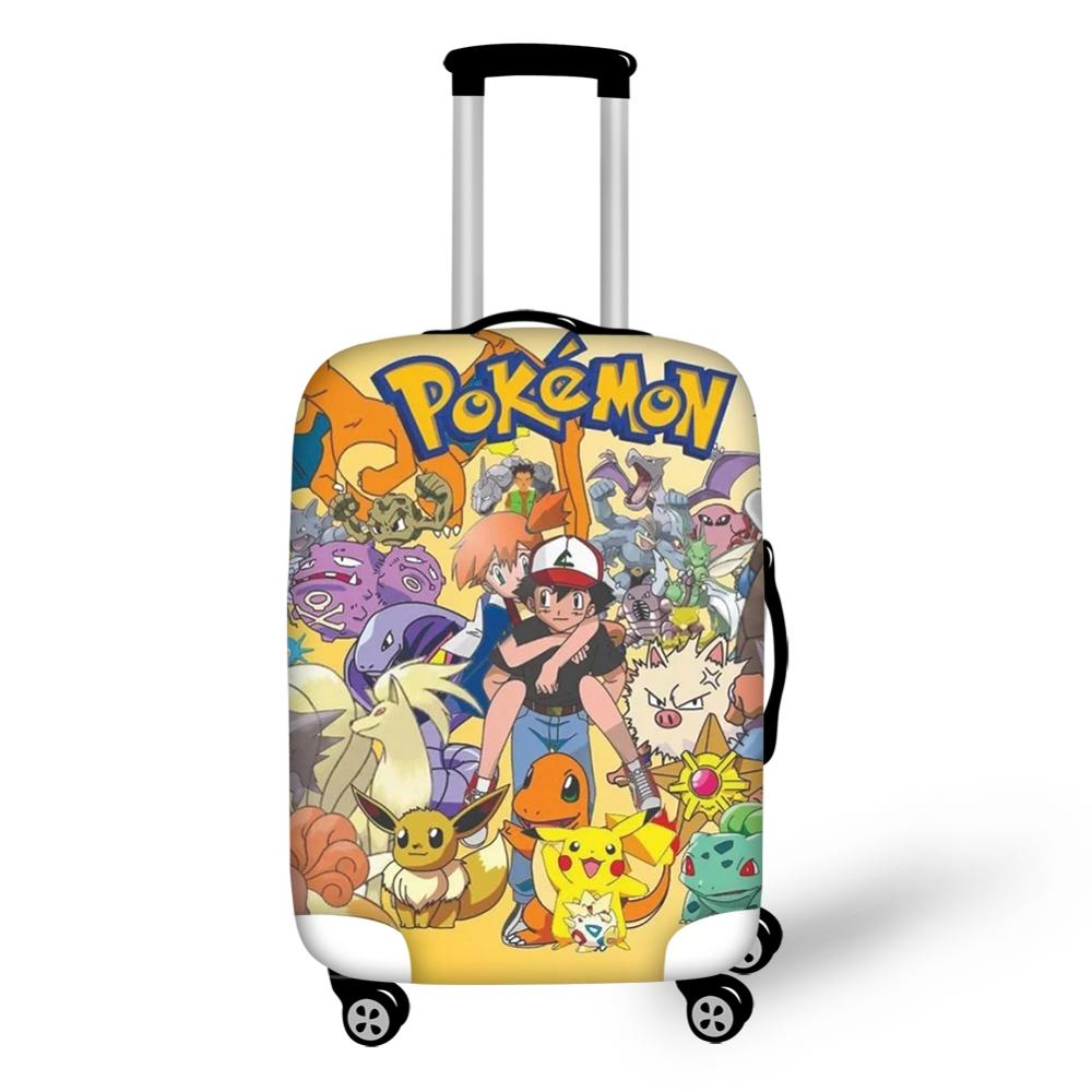 HaoYun Cartoon Suitcase Cover Pokemon Pattern Elastic Dustproof Luggage Cover Kawaii Pikachu Luggage Protective Accessories