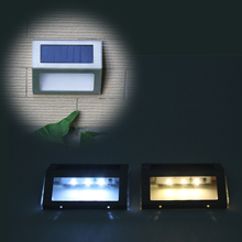 Amazon Hot Selling Solar Lamp 3led Stainless Steel Solar Stair Light Waterproof Landscape Solar Wall Lamp цена 2017