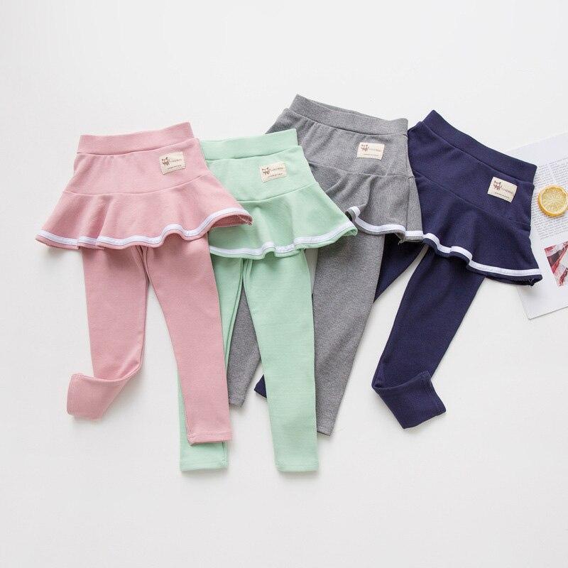 2019 Fall Girl Sprot Legging Skirt-pants Cake Skirt Baby Girl Fall Leggings Children's Girls Skirt Pant for 3-8 Years 4