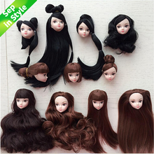 1Pc Multi Choices Doll Head with Hair DIY Accessories For  BJD House Girls Best Hairstyle Gifts Kids Toy