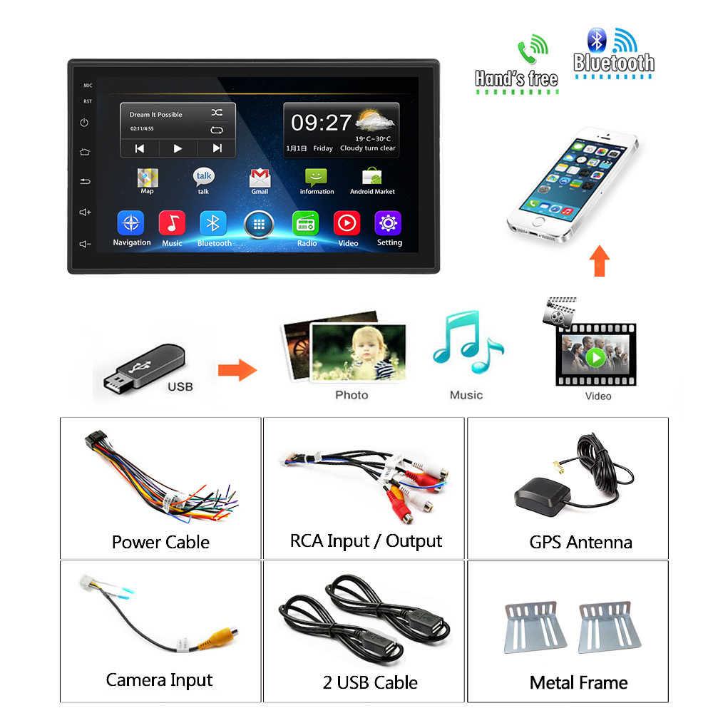 Podofo 2din カーラジオ Android の Gps 無線 Lan カーマルチメディアプレーヤーユニバーサルオートステレオフォルクスワーゲン日産現代起亜トヨタ