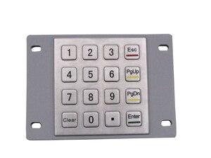 IP65 Metal Keyboard Waterproof Stainless Steel Keyboard Numeric Keypad With 16 Keys For Industrial Kiosk Membrane Keypad(China)