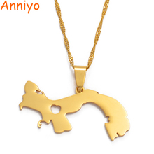 Panama Pendant Necklace for Women/Men 18K Yellow Gold Plated Jewelry Map of Necklaces #005105