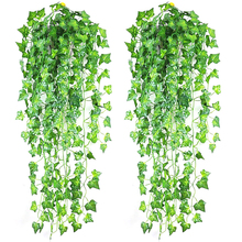 Festival Artificial Ivy Green Leaf Garland Plants Vine Fake Foliage Flowers Home Decor
