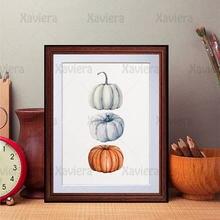 Минималистичный тыквенный холст картина Осенний урожай художественный