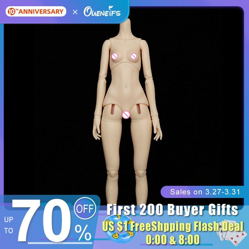 BJD Body 1/4 DZ 12 Girl Body Figures Naked Toy Boy Girl Gift Doll Baby Real Resin Toys For Children 2DDoll
