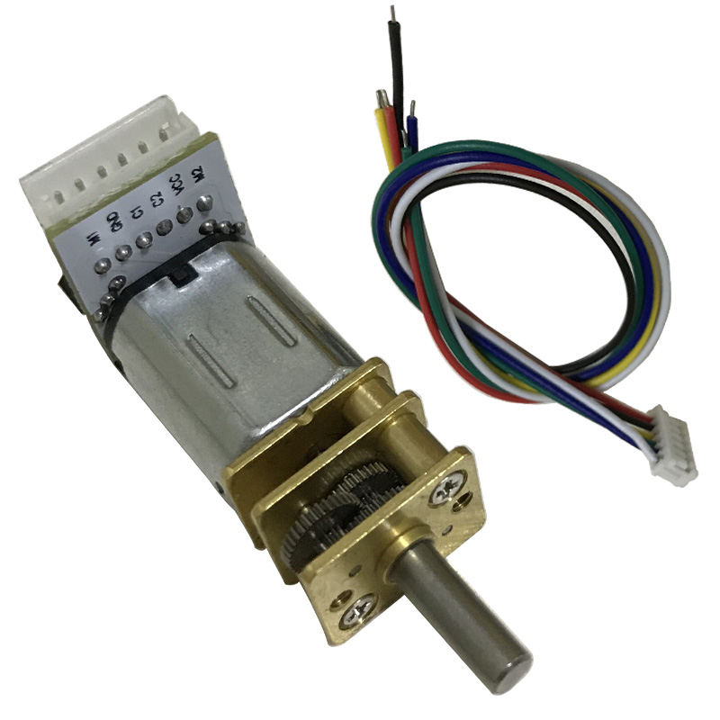 <font><b>N20</b></font> Mini DC <font><b>Encoder</b></font> Gear Motor 6V 12V <font><b>Encoder</b></font> High Speed 39-3000RPM Adjustable Speed Reversible In DC Motor For Smart Device image
