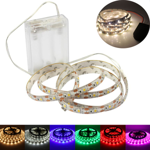 LED Strip 5V AA Battery Powered SMD3528 60LEDs/M Led Lights Waterproof 0.5M 1M 2M 3M 4M 5M Flexible LED Ribbon Diode Tape