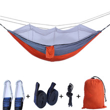 1-2 Person Portable Hanging Bed Outdoor Camping Hammock with Mosquito Net Hunting Sleeping Swing Strong Load Bearing