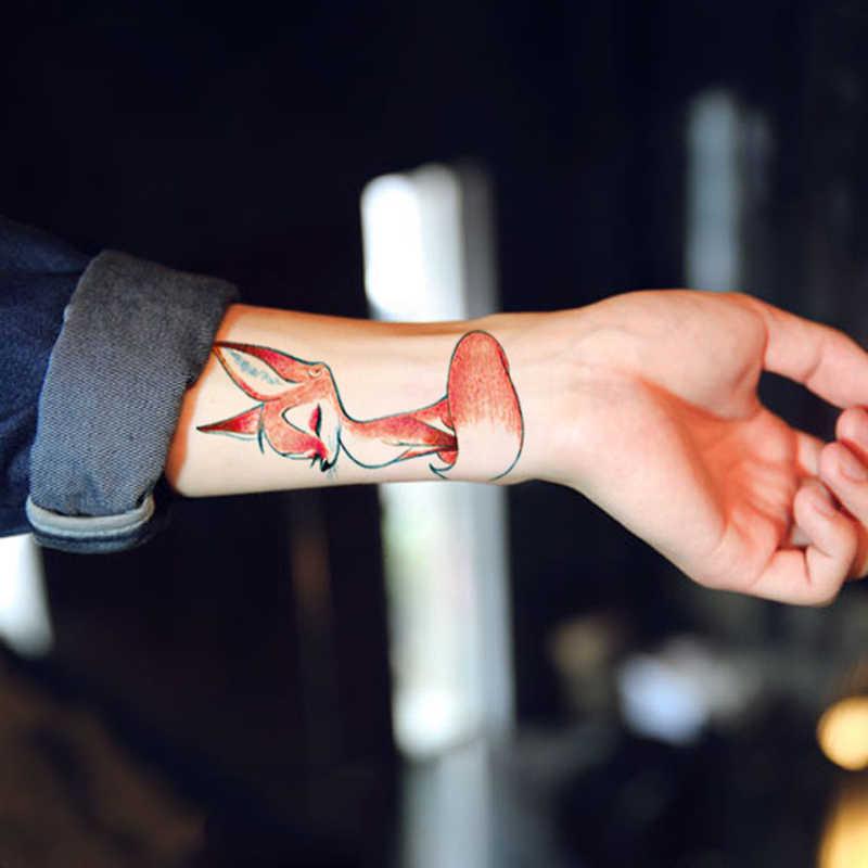 Hijau Lem Transfer Stiker Tato Sementara Hewan Palsu Flash Tubuh Seni Tahan Air Pria Wanita Pola Dicat
