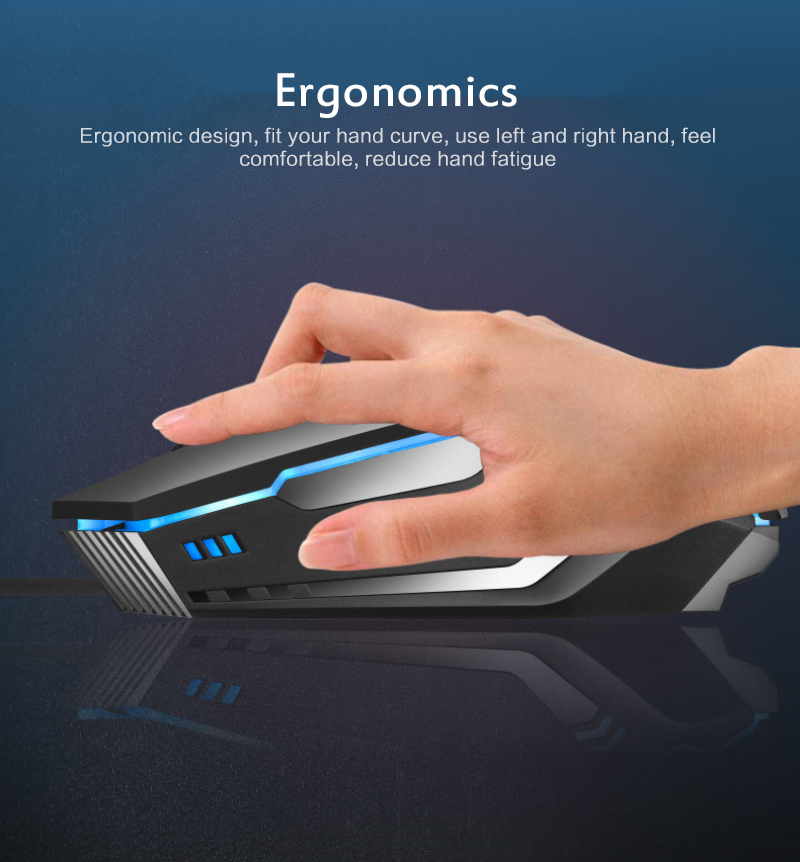 Professional Mouse K3 USB Wired 7 Color Lighting 1600DPI Adjustable Gaming Mouse Mice For Computer For LOL For Laptop PC Mouse